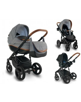 Carucior copii 3 in 1 Bexa Ideal Grey
