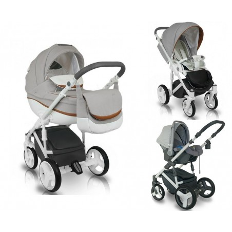 Carucior copii 3 in 1 Bexa Ideal Silver