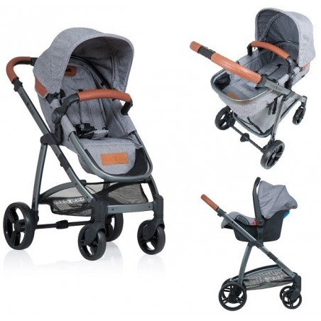 Carucior Kiddo Jazz 3 in 1 Transformabil Stone Brown