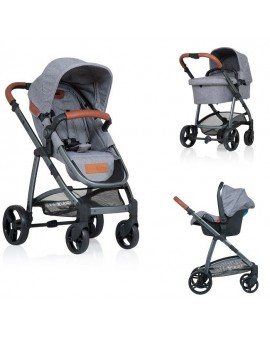 Carucior Kiddo Jazz 3 in 1 Deluxe Stone Brown