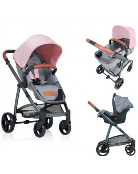 Carucior Kiddo Jazz 3 in 1 Transformabil Rose