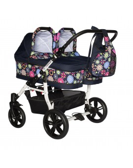 Carucior gemeni PJ STROLLER Twins 2in1 Multicolor