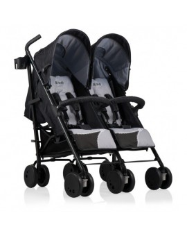 Carucior gemeni Zipper Duo Kiddo Grey