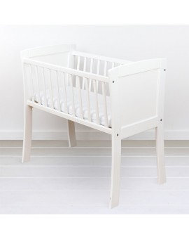 Mini Patut co-sleeping din lemn, White 90 x 40 cm