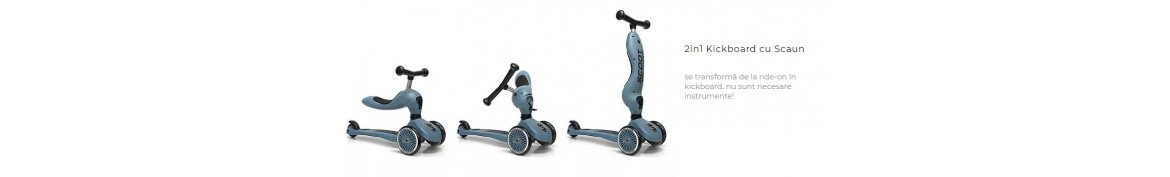 TROTINETA COPII TRANSFORMABILA 2IN1 Scoot & Ride HighwayKick 1, 1-5 ani